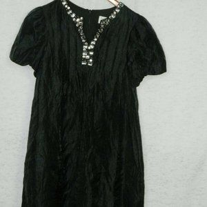 Blush By Us Angels Girls Black Rhinestone Dress 16